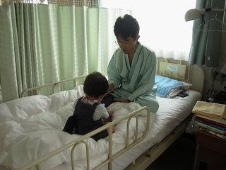 これが入院したとき。ユウキチは1歳。