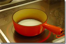 ルク鍋で加熱中…