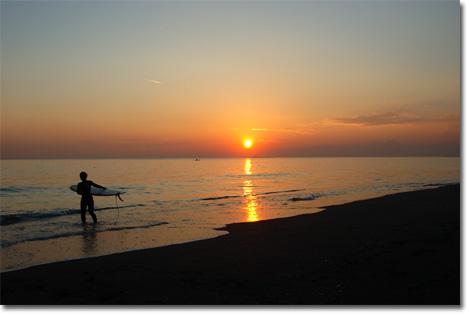 辻堂海岸の夕日