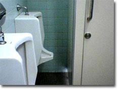 出張先で見つけたダイエット用(?)トイレ。せ,狭い…
