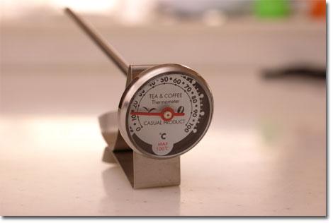 コーヒー用に温度計を買ってきました(900円なり)