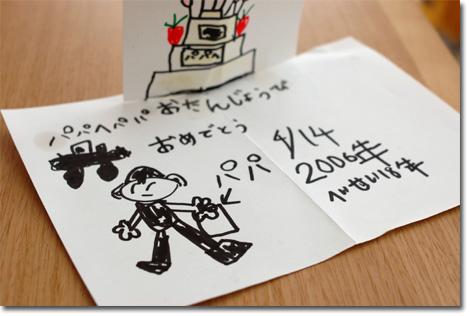 お誕生日カード for おいら from ユウキチ  【フォトアルバムはこちら!】
