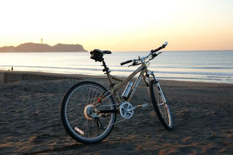 久しぶりの朝ポタ。鵠沼海岸は気温7℃でした。