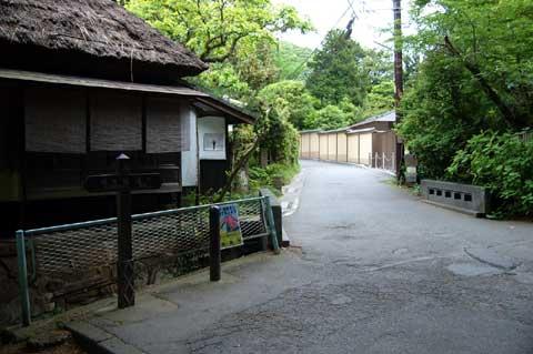 名月院前の細道を走っていくと,激坂に出会えます。