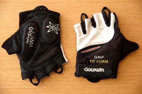 GOLDWINのハーフフィンガーグローブ,GWB 781。とっても使いやすい~