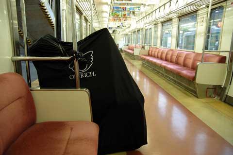 ガラガラ電車での輪行は楽ちん~