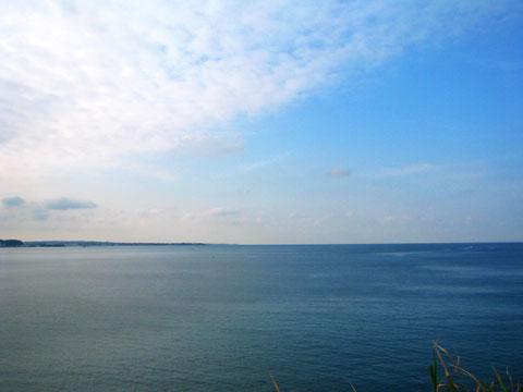 長者ヶ崎からみる三浦半島先端方面。ここまではのんびりしていたんだけどなぁ~
