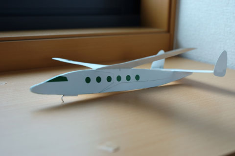 カズボン号は,ちょっとリッチな自家用ジェット風飛行機(^^)