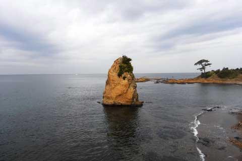 で,いつもの「立石」。城ヶ島ポタの時にも,家族旅行の時も,必ず寄ります。