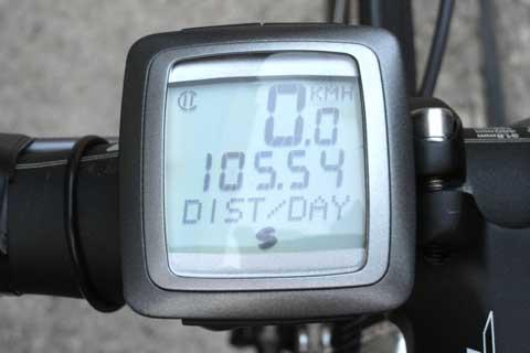 今回の箱根登山は100kmちょっと。距離は意外と稼いでないのである。