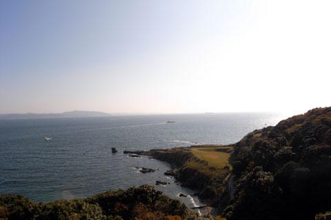 観音崎灯台から千葉方面を望む。のどかだなぁ~