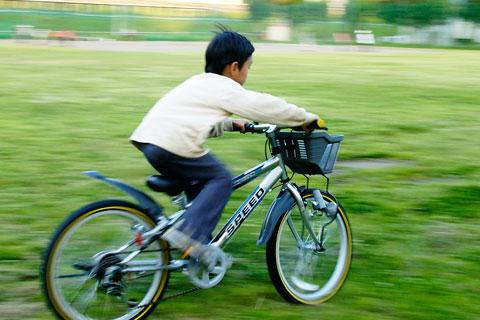カズボン号は,自転車あさひのMTBルック車。コレ1台でどこでも参上。