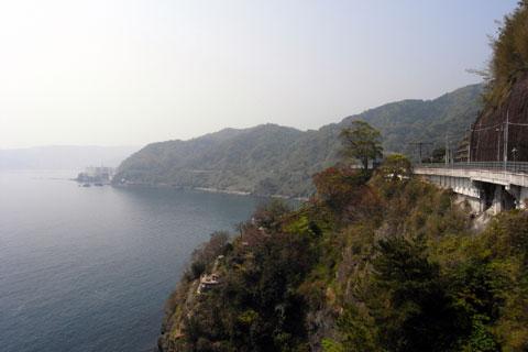 これは熱海付近。伊豆半島って,結構アップダウンが・・・。