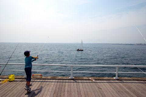 洋上のヨットにぶつけないか気にされていましたが,それは自信過剰です(笑)