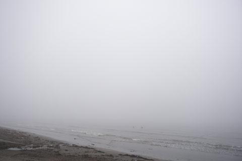 こちらは由比ヶ浜。差がないけど……。