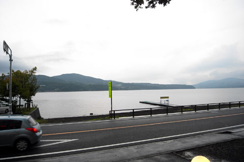 山中湖の写真はコレ1枚だけ。もう写真を撮る気力が……,ほんの少しだけある♪