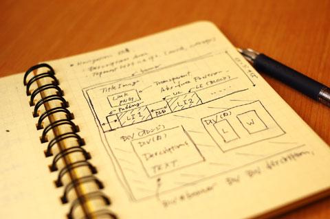 ページ上部の,タブによるカテゴリ切替の設計。3月から,カテゴリの説明文が入るようになりました♪
