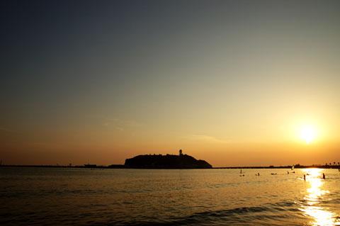 激走15分,江ノ島に到着。夕焼けに間に合った~!
