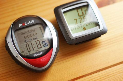 左は超てんこ盛りサイコンCS400,右はシンプルサイコンSIGMAです♪