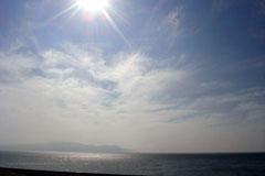 快晴の西伊豆海岸。暑いくらいでした