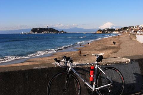 今日は富士山がバッチリ見えました @ 七里ヶ浜