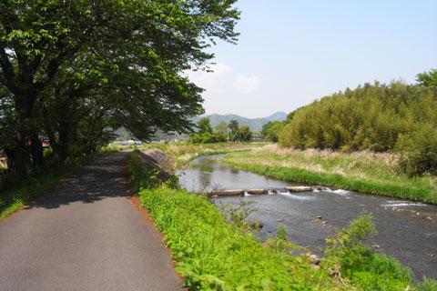 小鮎川の土手を走ります。のどかだな~。自転車ならではの至福の時間(^^)