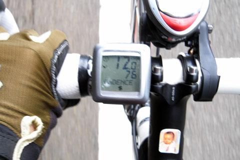 勾配6%でも76rpm(^^)。速度がべらぼうに遅いですが・・・(涙)