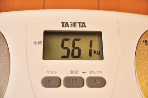 おぉ,富士ヒルクライムの時より2kg増えている!! BMI=19.2だけど・・・。
