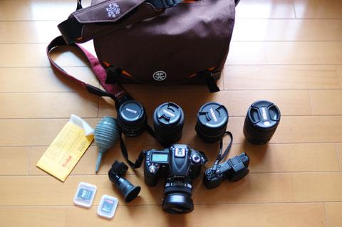 おいらのカメラ資産のほぼ全てが入っちゃいます(笑) 後はストロボと50mmF1.4くらいかな?
