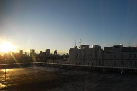 おぉ,この良き日にふさわしい,快晴の日の出です!(^^)