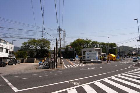 名古木の交差点到着。いよいよ,ここから男の闘いが始まるのダ!(^^)