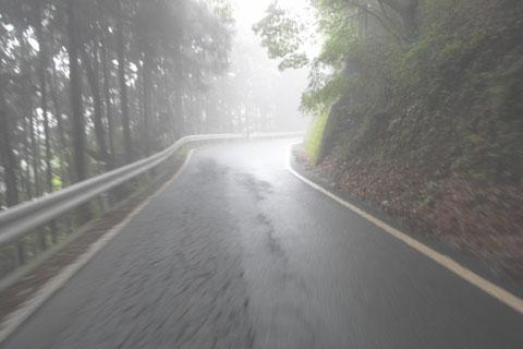 ここら辺は,もはや「小雨」という感じになってきました。息が苦し~