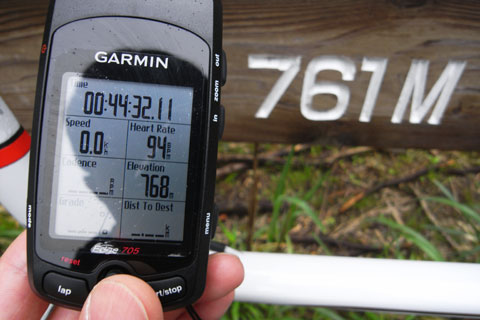 な,なんと前回とまったく同じタイムでした!関係ないけど,Edge705の高度計はCS400よりも精度が高そう?
