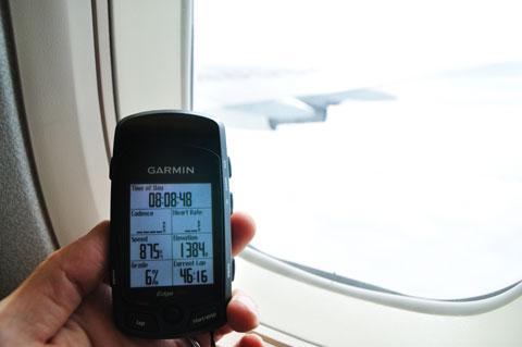 もちろん,Edge705も。時速875kmで飛行中~