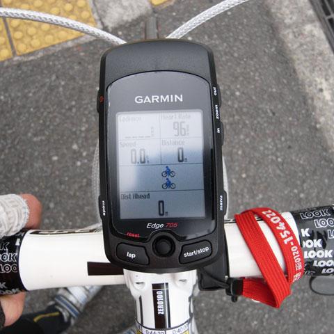 スタート地点。上の自転車がトレーナー様,下の自転車がLOOK号(^^)