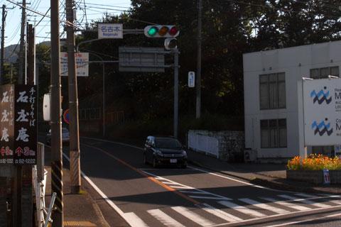 毎度の名古木交差点。向こうに渡ってから,スタートです! (すでに太ももが痛いけど・・・)