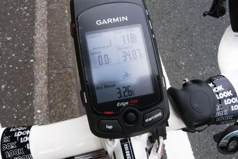 バーチャルトレーナー君に初勝利! 3.26kmも引き離してやったぜ,フフフ・・・。