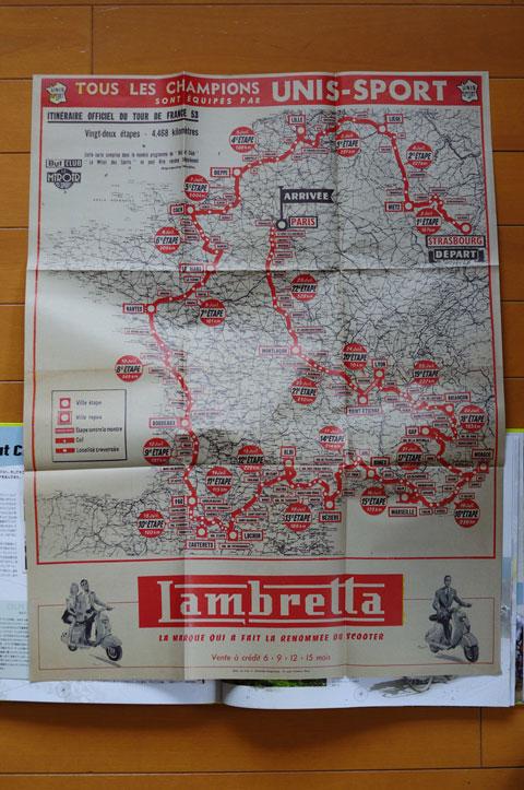 1953年のルートマップ。ルイゾンボベが走っていたコースだ(!)