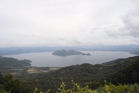 洞爺湖サミット会場のウィンザーホテル洞爺湖から見る洞爺湖(しつこい)