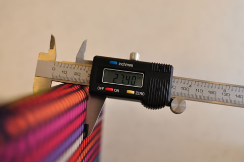 おぉ,わずか27mm。本体+7mmに収まりました(^^)