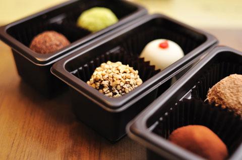 食後はGODIVAの新製品,トリュフアイス。超おいしい(^^)