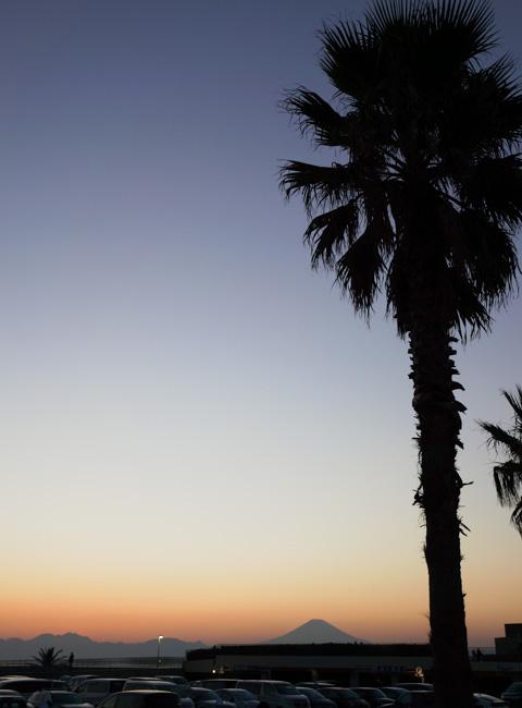片瀬海岸まで戻ってきました。さぁ,もうひとっ走りして家に帰ろう(^^)