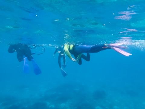 人生初シュノーケル。海の中には熱帯魚がたくさんいました(^^)