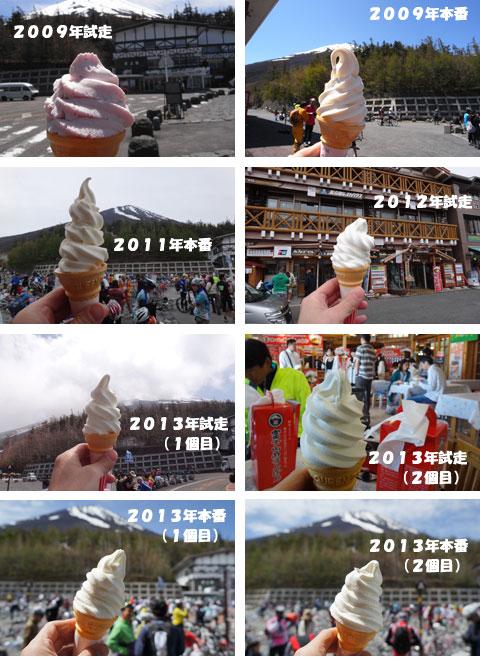 我が5合目ソフトクリーム暦。2011年本番はでかい! 富士山より高い!