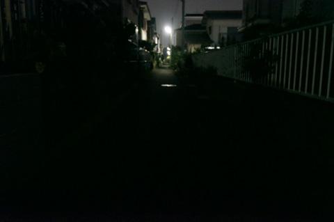 無灯火状態。