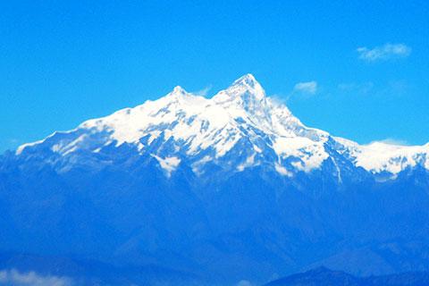 ヒマルチュリ山(7893m)。 ここまで登ったとは・・・。