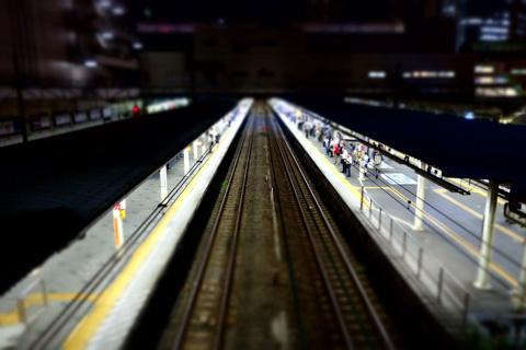 ミニチュア川崎駅。こんな写真ばっかり撮っている(笑)