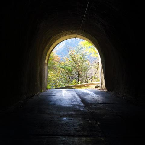 トンネルは嫌いだけど,裏ヤビツのトンネルは大好き!(^^)【裏ヤビツ紅葉ポタ2のアルバムはこちら~】