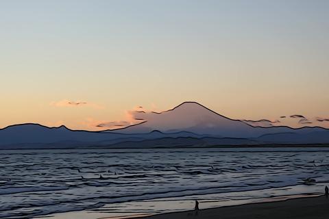 本当は,すばらしい富士山なのに・・・。