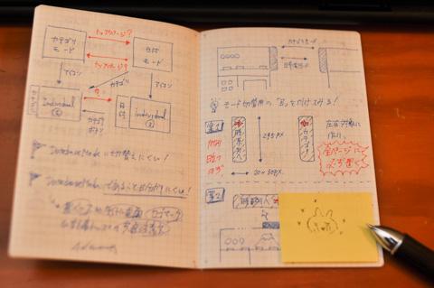 で,ミニノートにはフォトポタ日記の設計を書くことができます(^^)